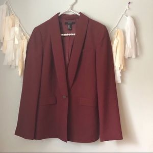 Forever 21 Maroon Blazer Career Style Jacket